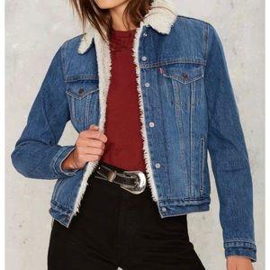 Levi's Sherpa Trucker Jacket mid blue